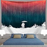 Fantacy Galaxy Planet Tapestry Spaceman Astronaut Universe Tapices para Colgar en la Pared para la Sala de Estar del Dormitorio (95x73cm)