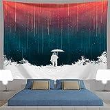 Brandless Tapiz de Astronauta psicodélico Galaxy Spaceman Starry Wall Decoración del hogar para la Sala de Estar del Dormitorio (230x180cm)