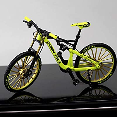 1:10 Zinc Alloy Bicycle Model, Desktop Decoration Ornaments Free Standing Miniature Finger Mountain Riding Bike Model Toy, Creative Gifts & Home Decorative Crafts