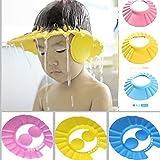 finebasket (LABEL) Adjustable Safe Soft Bathing Baby Shower Cap Wash Hairbaby Cap