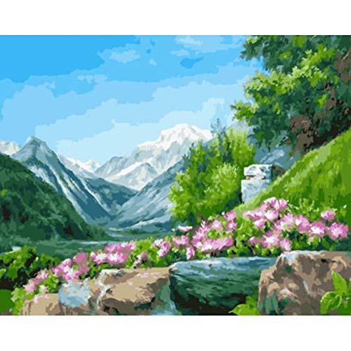 GJWQAGS Landschap compositie van het schilderen van muurschilderingen olieverf schilderij canvas schilderij huis decor woonkamer muur