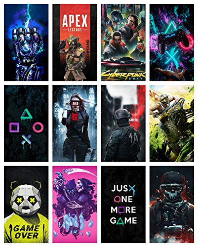 SEMI-CIRCLE Set of 12 Gaming Poster Wall Poster for Room Walls Games Posters 220 GSM Glossy Wall Poster(Size_12x18 inch,Multicolor,220 GSM Thick Paper)