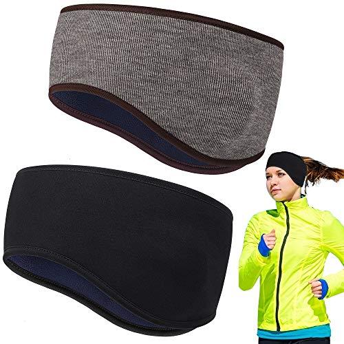 HASAGEI Stirnband Winter für Damen und Herren Sport Stirnbänder Ohrenschützer Headband elastisch zum Joggen Laufen Wandern Radfahren Motorradfahren