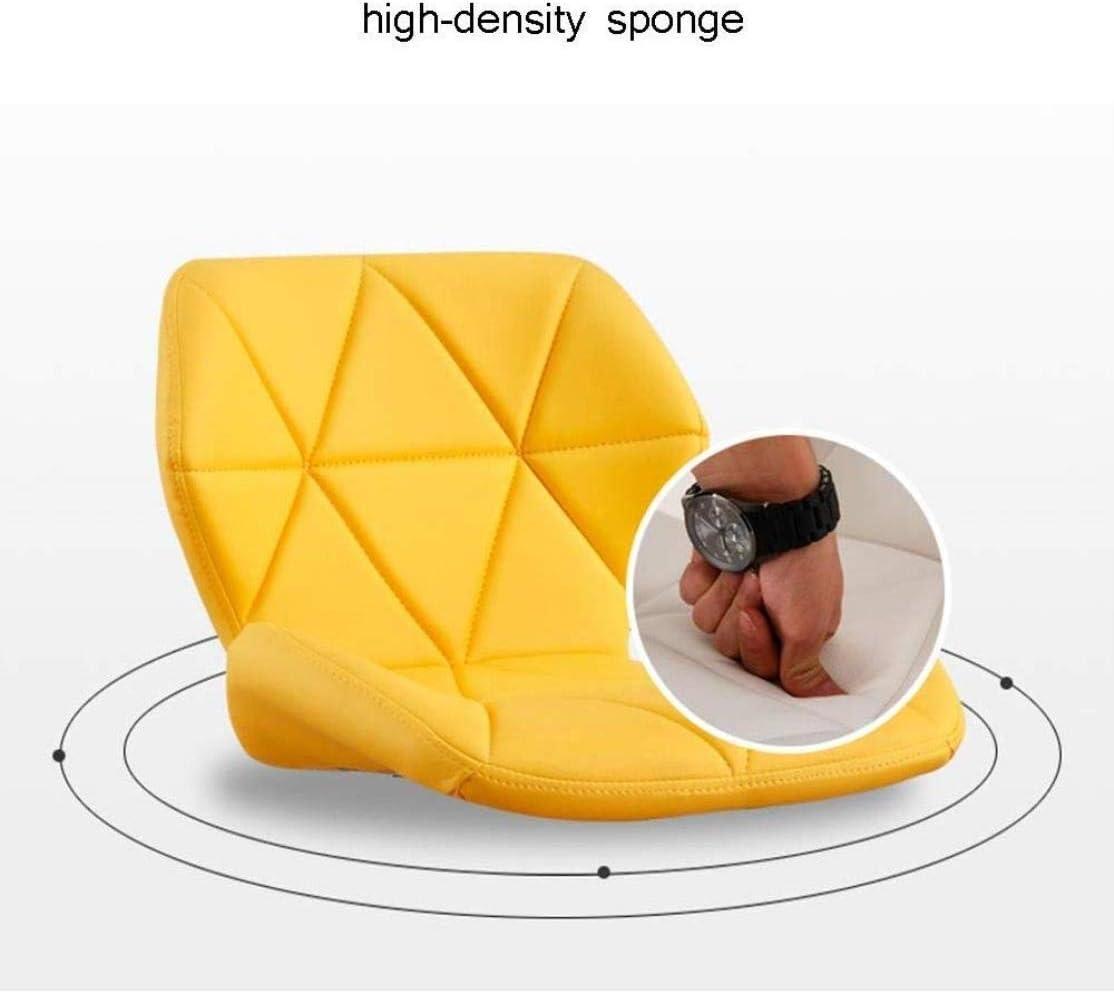 Tabouret de Bar THBEIBEI Chaise de Bureau, Hauteur Ajustable en Cuir PU Ordinateur Fauteuil pivotant Haut à Manger Chaise Accueil Pedal (Color : Style4) Style7