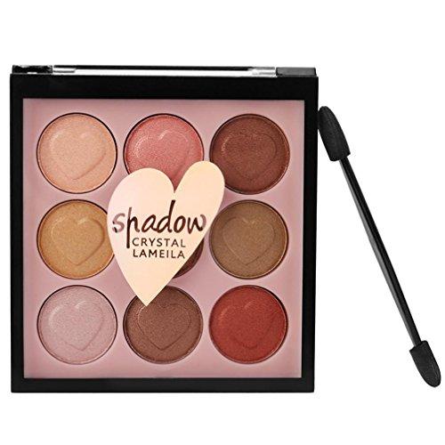 Challeng Lidschatten-Palette, Schimmern Perle Funkeln Bilden Pulver Kosmetik Matt Makeup Augenschatten Palette/9 Farben (#4)