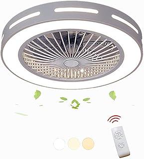 Ventilador de Techo Ventilador Ventilador De Techo Con Iluminación Creativo Lámpara De Techo regulable Araña Control Remoto Ultra Silencioso Sala de estar Dormitorio Moderna Lámpara de habitación for