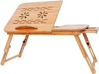 DoubleBlack Table de Lit PC Pliable en Bambou