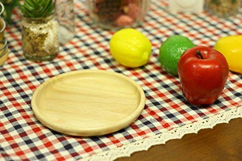 不二貿易皿ラウンド直径15cmナチュラル天然木割れにくい軽量木製食器ボヌール96217
