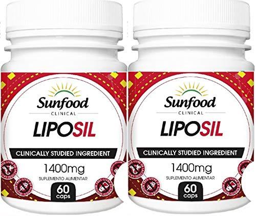 Liposil Laranja Moro 1400 mg Sunfood 60 Cápsulas Kit 2 Unidades