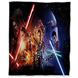 ARYAGO Manta de felpa de 130 x 180 cm, Star Wars mullida y acogedora manta para sofá, el despertar de la fuerza