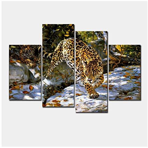 sjkkad Leopard muurschilderij druk op canvas voor wooncultuur ideeën kleuren op wandafbeeldingen kunstdruk op canvas -40x80 40x100cm geen lijst