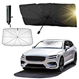 Car Windshield Sun Shade for UV Rays and Heat Sun Visor Protector,Automotive Front Window Cover Sun Shade, Foldable Umbrella Reflector, Easy to Store/Use,Fit Most Vehicle(57x31 in)