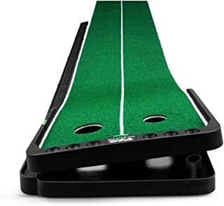 JHHXW Golf Putting Mats, Adjustable Slope Golf Mat, 300 * 50cm Automatic Ball Return Track Golf Practice Mat, Portable Ind...