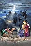 N / A Home Garden Star of Bethlehem 32 X 45,7 Cm Bandera Decorativa De La Casa De Los Reyes Magos De La Navidad De Jesús, Blanco/Gris/Marrón/Verde/Azul/Rojo