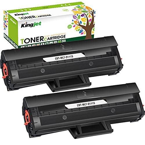 Kingjet D111S Sostituzione delle Cartucce di Toner Compatibili per Samsung MLT-D111S 111S per Samsung Xpress M2070 M2070W M2070FW M2026W M2026 M2020 M2020W M2022 M2022W (2 Nero)