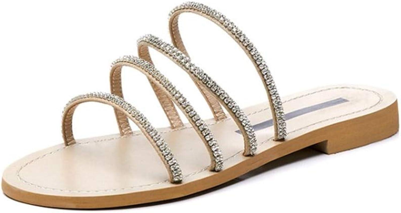MENGLTX High Heels Heels Heels Sandalen Große Größe 34-47 Einfache Feste Hausschuhe Frauen Slides Außerhalb Elegante Kristall Freizeitschuhe Leder Schuhe Frau B07QLV8RW2  Eigenschaften d7a556