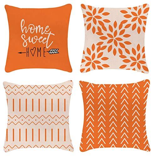 YCOLL fundas de almohada de sofá moderna funda de almohada decorativa para exterior de tela de lino funda de almohada para sofá cama coche