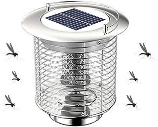 Solar Mosquito Killer Light 2-in-1 Outdoor Camping Lantern Indoor Waterproof UV Bug Zapper with Garden Lights Function and...