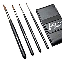 This round brush travel set is perfect for urban sketchers who like to travel light!