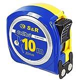 S&R Metro a Nastro 10M x 25mm. Flessometro Professionale, Compatto e Resistente.