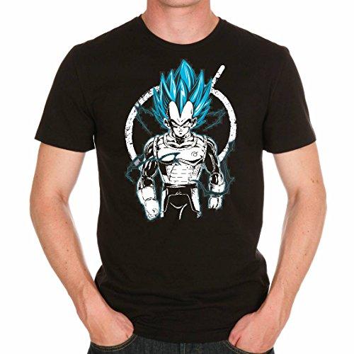 T Shirt Dragon Ball Z Vegeta Blue God Mode manga cartoon dbz (S)