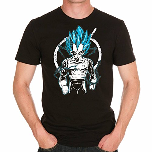 T Shirt Dragon Ball Z Vegeta Blue God Mode manga cartoon dbz (S)