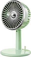 HUI JIN Ventilateur de bureau portable avec 3 vitesses Silencieux avec batterie rechargeable 60-125°