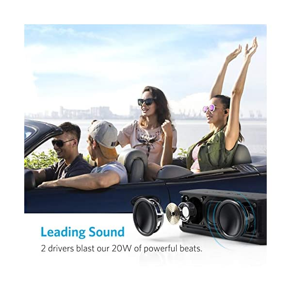 Bluetooth Speaker with BassUp Technology,  12H Playtime, IPX5 Water-Resistant, Portable Speaker with Superior Sound & Bass for iPhone, Samsung and More 5