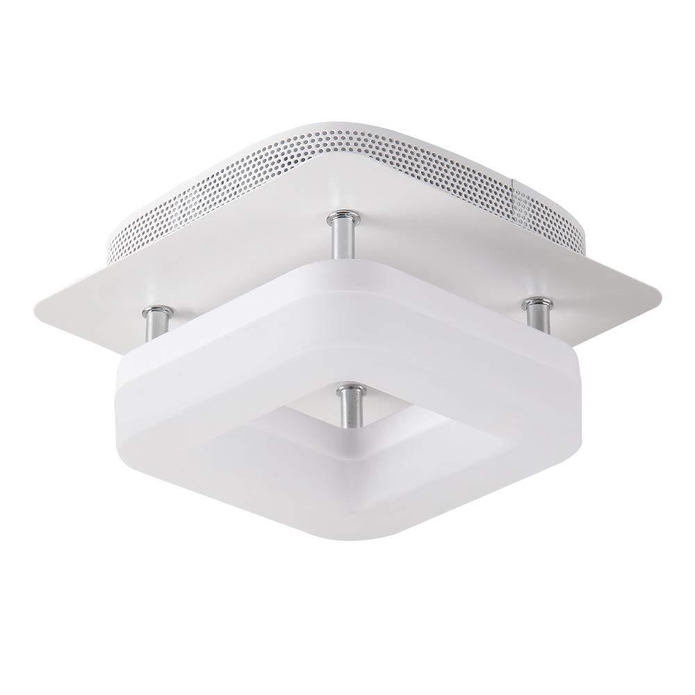 12W Luz de techo blanca Lámpara de pasillo cuadrada Luminarias Iluminación blanca cálida, superficie montada oculta Integrada Para sala de estar Escalera Pasillo Cocina, Artpad: Amazon.es: Iluminación