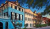Awttmua Puzzles Rainbow Row Charleston SC Maravilloso Regalo De Cumpleaños 1000 Piezas