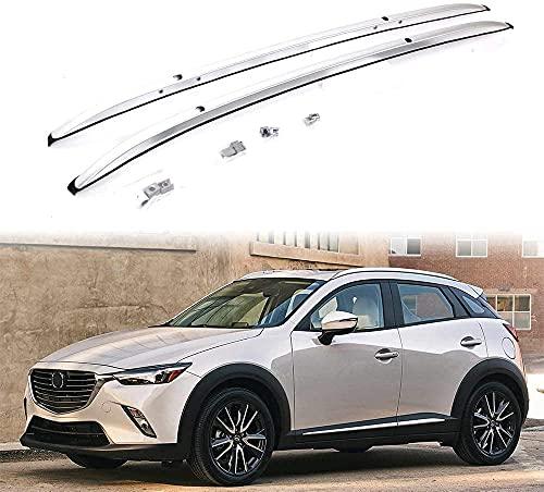 2 Piezas Coche Bacas y portaequipajes para Mazda CX-3 CX3 2016-2020, Capacidad Carga Accesorios Estilo Transversal del Portabicicletas