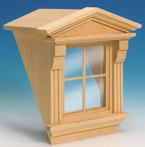 MiniMundus Dachgaube mit Fenster für das Puppenhaus
