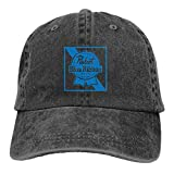 Pa-BST Bl-ue Ri-bbon Be-er Lo-go Men Women Baseball Cap Cotton Running Sport Baseball Cap Adjustable Dad Hat Black(7)