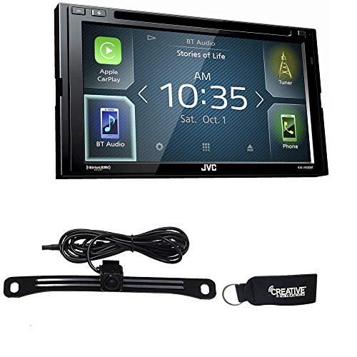 JVC KW-V830BT Compatible with Android Auto/CarPlay CD/DVD with Back Up Camera