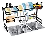 Dish Rack Over the Sink SOLEDI Sink Dish in Rack Stainless Steel Sturdy Durable Dish Drying Rack Kitchen Maximize Space Easy to Assemble