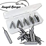 Angel-Berger Drop Shot Bleisortiment mit Box gemischt