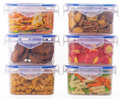 JRM's Airtight Plastic Square Fridge Food Storage Container 400ml (SET OF 6)
