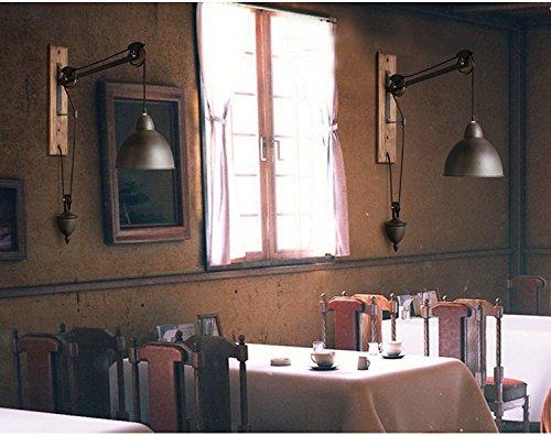 5151BuyWorld American Retro Nostalgie industriële wandlamp-art ijzer-wijnoogst met snoer trekken bar Light Cafe Asile