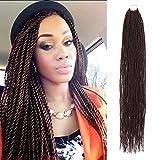 6 Packs 32 Inch AU-THEN-TIC Senegalese Twist Crochet Braids Hair Small Havana Mambo Twist Crochet Hair Pre-Stretched Pre Looped Soft Braiding Hair Extensions (32 Inch (Pack of 6), 99J)