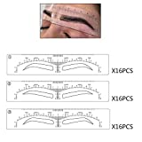 Eyebrow Stencils Microblading Mapping Ruler Stick on Sticker Eyebrow...