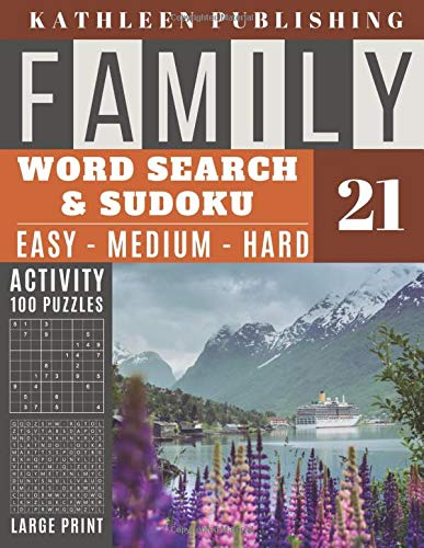 Family Word Search and Sudoku Puzzles Large Print: 100 games Activity Book | WordSearch | Sudoku - Easy - Medium and Hard for Beginner to Expert Level ... in USA Vol.21 (Family activity book, Band 21)