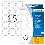Herma 2277 - Etiquetas de cierre, diámetro 32 mm, redondo, 240 unidades, color transparente