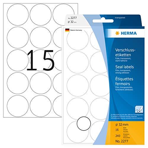 Etiquetas Adhesivas Transparentes Marca HERMA
