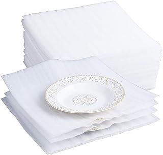 Belinlen - Paquete de 75 láminas de espuma de cojín para mudanza, envío, embalaje, almacenamiento seguro para gafas, discos, China, muebles (1,5 mm de grosor)