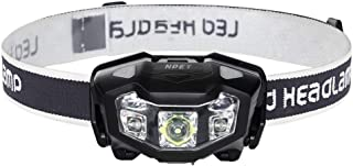 NPET LEDヘッドライト USB充電式 センサー式 120-320ルーメン 二色 防水 防塵