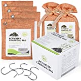 ECO FUTURE Bamboo Charcoal Bags – 6Pcs Enhanced Absorption Capacity Charcoal Air Purifying Bags – Bamboo Charcoal Bags for Mold and Mildew – Eco-Friendly with No Fragrance – Reusable and Safe – Ideal for Car, Closet, Gym Bag