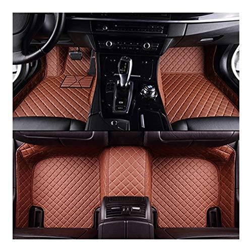 LLTT Destello Tapetes Estera del Coche De Cuero For La Cubierta De Encargo Almohadillas De Las Patas De Auto Alfombras De Automóviles BMW X5 E53 E70 2004-2013 2014-2016 2017 2018 (Color Name : Brown)
