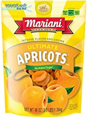 Mariani Ultimate Dried Apricots -48oz (Pack of 1) –Intense Flavor and Aroma, No Sugar Added, Gluten Free, Vegan, Fat Free, Non-GMO, Resealable Bag -Healthy Snack for Kids & Adults