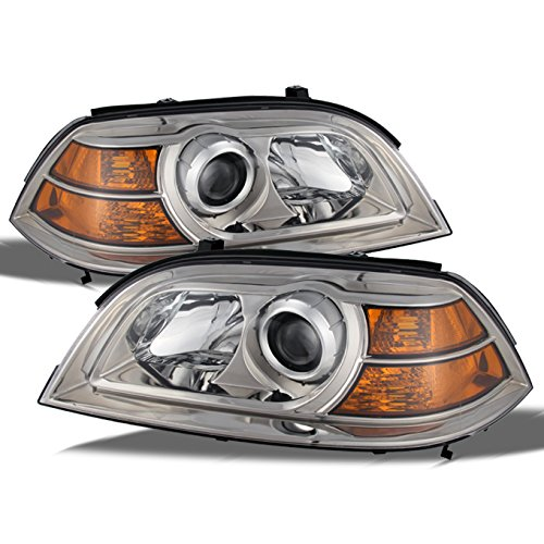 For Acura MDX Direct Replacement Chrome Bezel Headlights Driver/Passenger Head Lamps Pair New