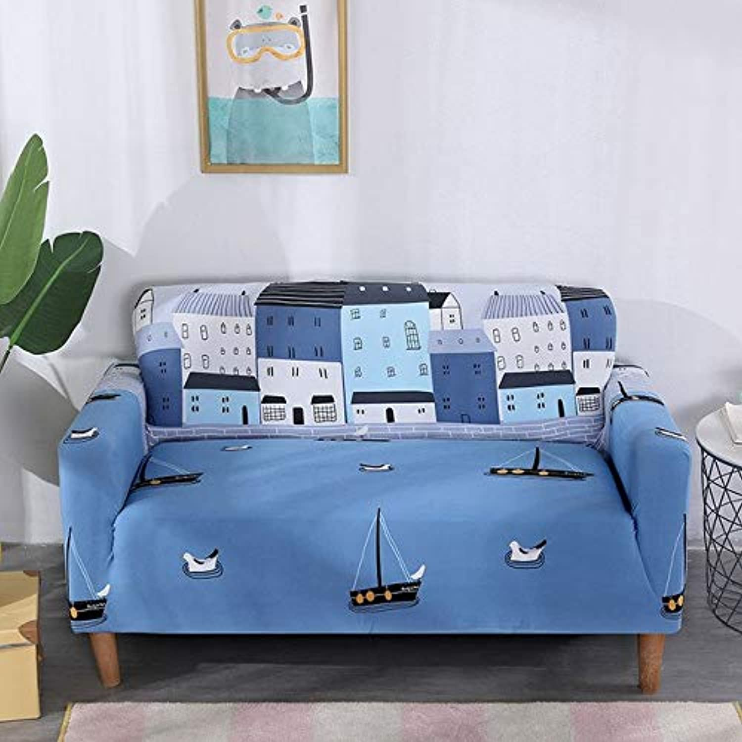 Universal Slipcovers Sectional Elastic Stretch Sofa Cover for Living Room Furniture Couch Cover L Shape Single Two Three Seat   Town, Three Seat